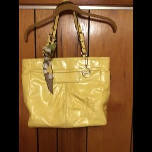 Coach large leather handbag
